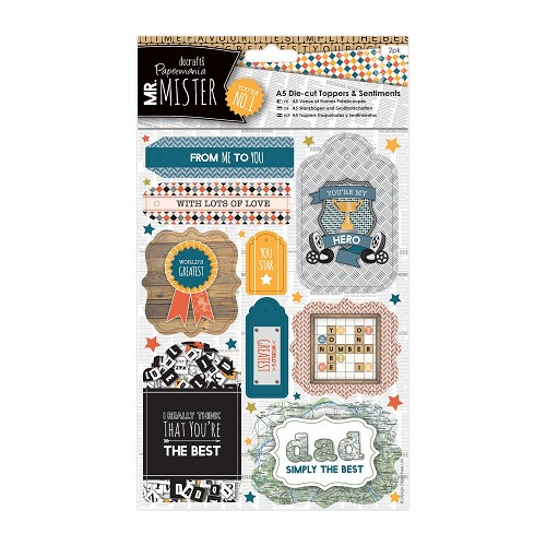 A5 Die-cut Toppers & Sentiments (2pk) - Mr Mister