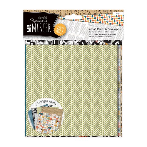 6 x 6 Cards & Envelopes (12pk) - Mr Mister