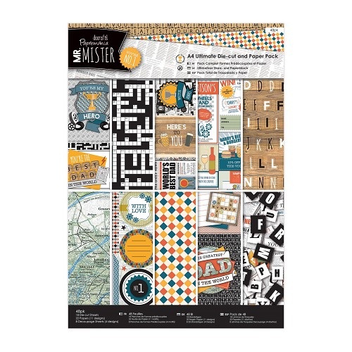 A4 Ultimate Die-cut & Paper Pack (48pk) - Mr Mister