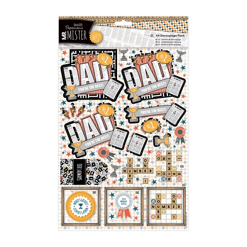 A4 Decoupage Pack - Mr Mister - Simply the Best