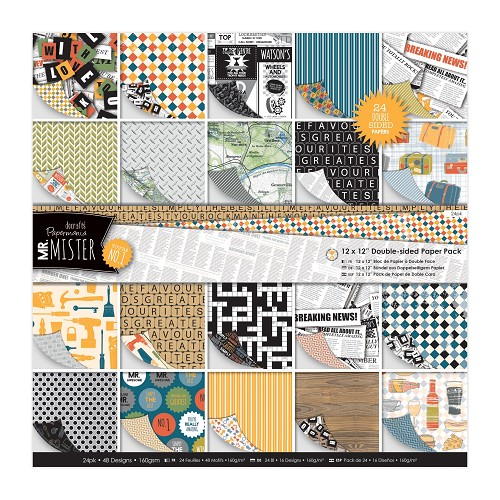 12 x 12 Doubled Sided Paper Pack (24pk) - Mr Mister
