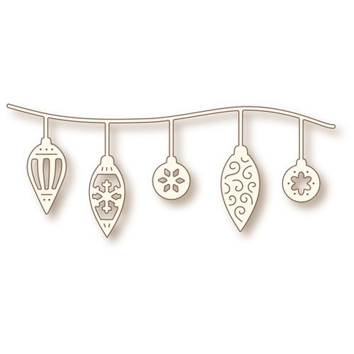 Wild Rose Studio's Specialty die - Row of Baubles SD035