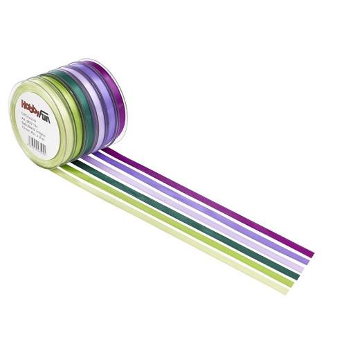 Satijnband, dennengroen, 3 mm, rol met 50 m