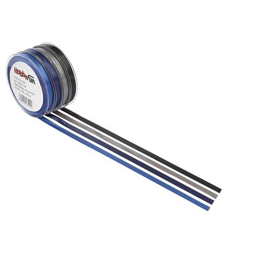 Satijnband, koningsblauw, 3 mm, rol met 50 m