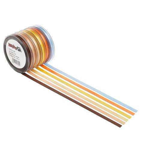 Satijnband, geel, 3 mm, rol met 50 m