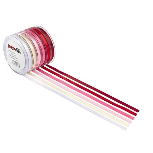 Satijnband, roze, 3 mm, rol met 50 m