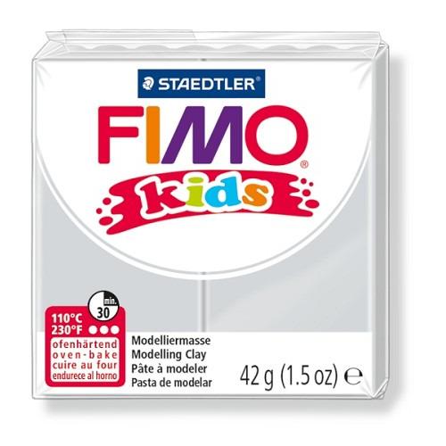 Fimo kids boetseerklei 42 g licht grijs