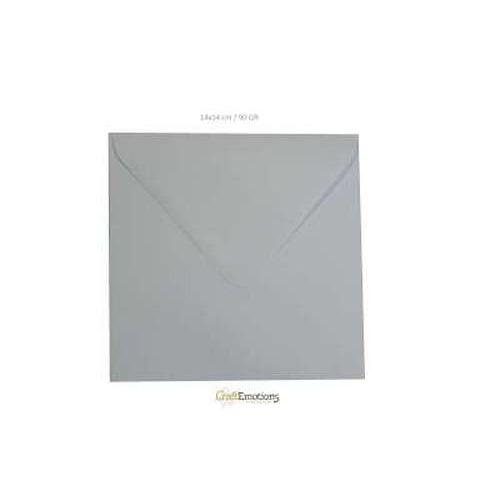 CraftEmotions Envelop vierkant wit - 20 ST 14x14 cm / 90 GR