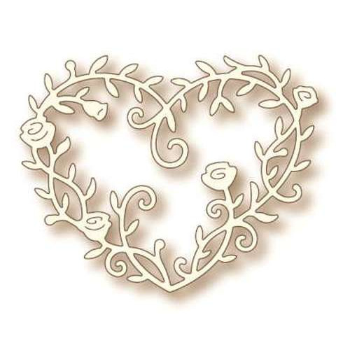 Wild Rose Studio's Specialty die - Heart Rose Vine SD039