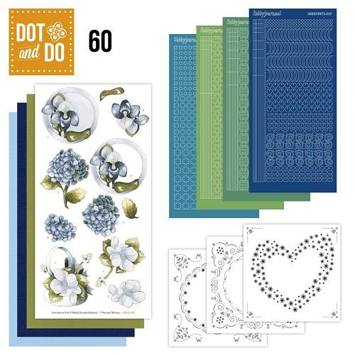 Dot and Do 60 - Blauwe bloemen