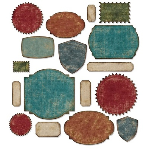 Sizzix Thinlits Die Set 17PK - Labels 660060 Tim Holtz ( 10-14 )