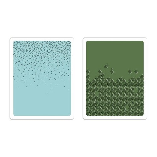 Sizzix Text. Fades Emb. Folders 2PK - Snowfall & Falling tree 660044 Tim Holtz ( 10-14 )