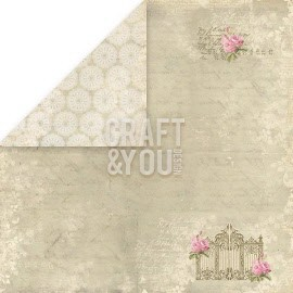 "CP-WG01 Wedding Garden Scrapbooking single paper 12""x12"""