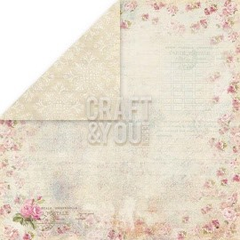 "CP-WG02 Wedding Garden Scrapbooking single paper 12""x12"""