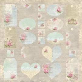 "CP-WG07 Wedding Garden Scrapbooking single paper 12""x12"""