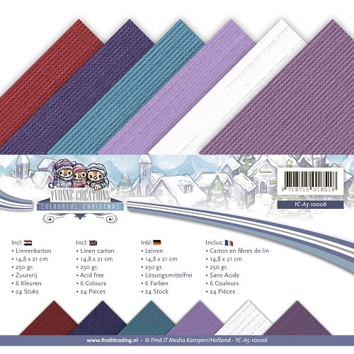 Linnenpakket - A5- Yvonne Creations - Colourful Christmas