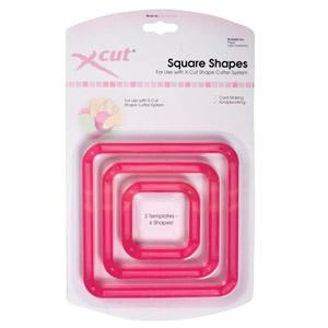 xcut shape cutter 3 x templates - squares