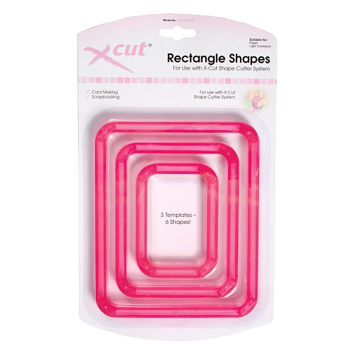 xcut shape cutter 3 x templates - rectangles