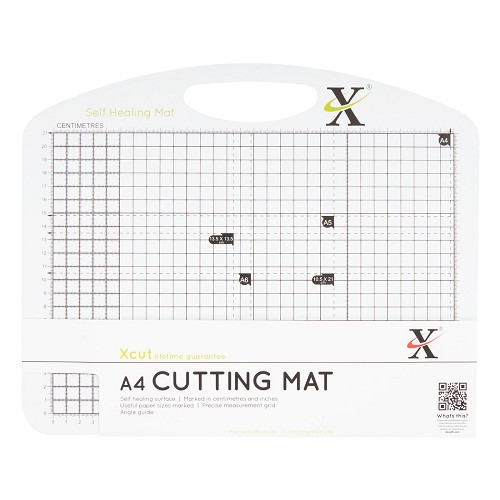 A4 Self Healing Duo Cutting Mat - Black & White
