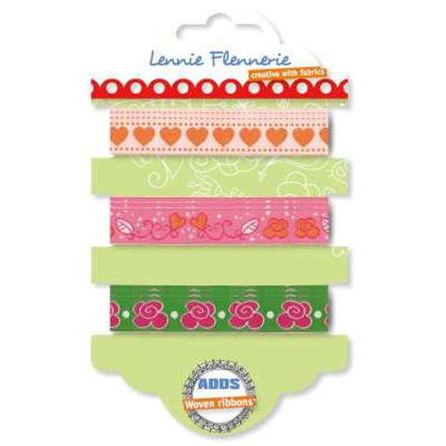Lennie Flennerie - Adds - Flower Heart Ribbons 3 stuk 203.302.002 (new 02-2015)