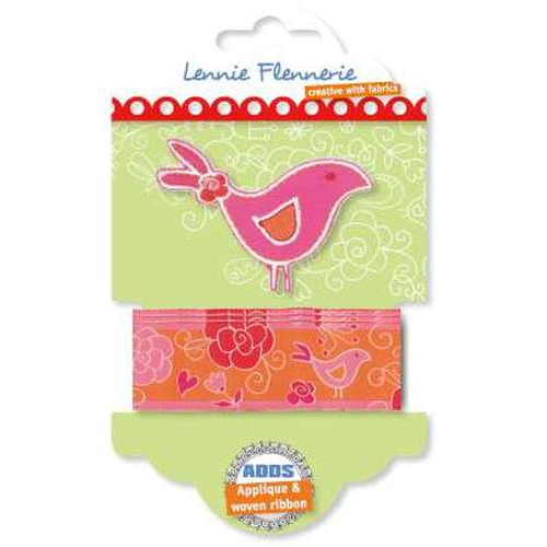 Lennie Flennerie - Adds - Applique + Ribbon Bird 203.303.002 (new 02-2015)