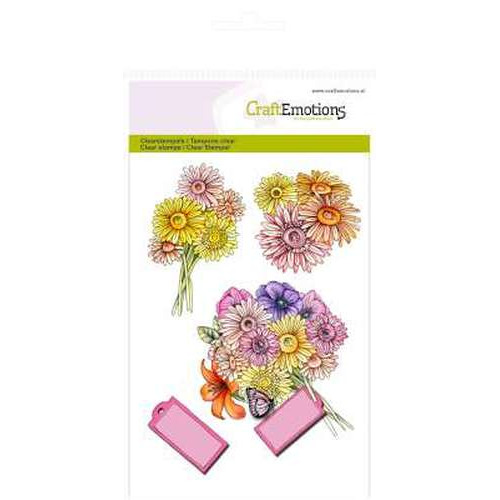 CraftEmotions clearstamps A6 - Boeket Botanical Summer