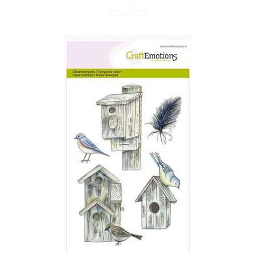 CraftEmotions clearstamps A6 - Vogelhuisjes Botanical Summer