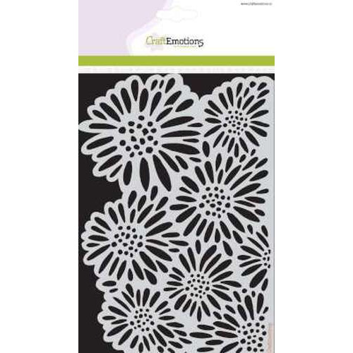 CraftEmotions Mask stencil Botanical Summer - Bloemen A5