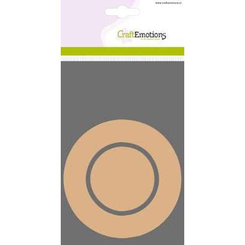 CraftEmotions MDF basisvormen rand cirkel + binnencirkel 3 st 10cm x 3mm