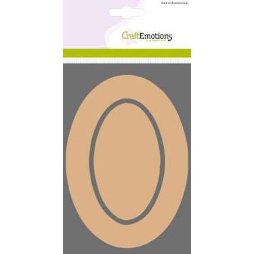 CraftEmotions MDF basisvormen rand ovaal + binnenovaal 3 st 10 x 14,8 cm x 3mm