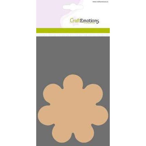 CraftEmotions MDF basisvormen Bloem  3 st 10 cm x 3mm