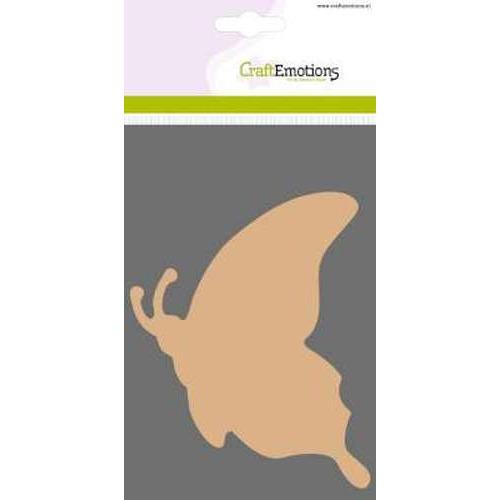 CraftEmotions MDF basisvormen Vlinder zijaanzicht  3 st 10 cm x 13 cm x 3mm