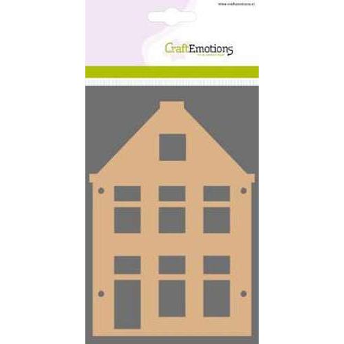 CraftEmotions MDF basisvormen huis puntgevel (2-delig) 15cm x 10cm x 3mm