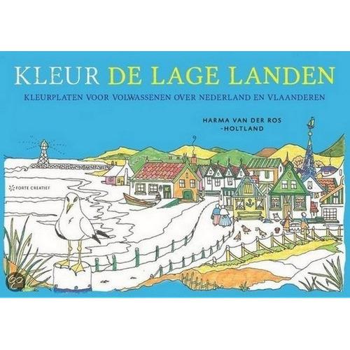Forte Boek Kleurplaten voor volwassenen- Kleur de lage landen Harma van der Ros (02-15)
