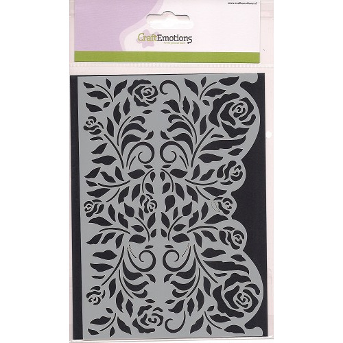 CraftEmotions Mask stencil - Rozen ornament rand A5 new 09-2014