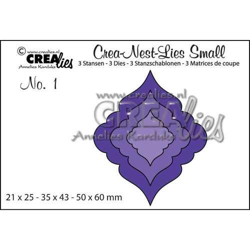 Crealies Crea-nest-dies small no. 1 kerstbal 1 CLNestSm01 / 5x6 cm