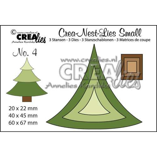 Crealies Crea-nest-dies small no. 4 kerstboom CLNestSm04 / 6x6,7 cm