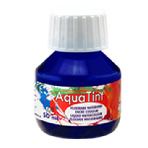 Collall AquaTint - vloeibare waterverf nachtblauw 50ml COLAQ05008