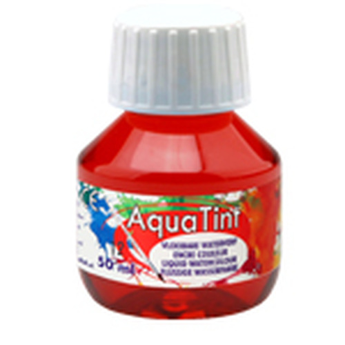 Collall AquaTint - vloeibare waterverf donkerrood 50ml COLAQ05012