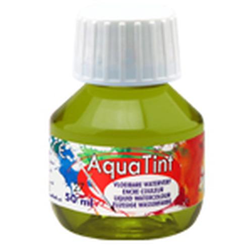 Collall AquaTint - vloeibare waterverf olijfgroen 50ml COLAQ05027