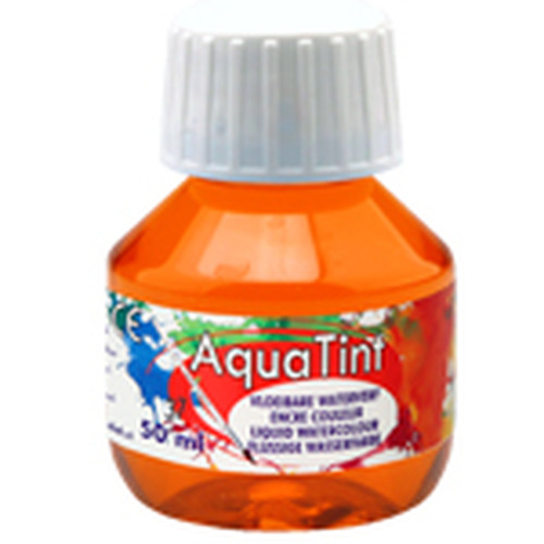 Collall AquaTint - vloeibare waterverf oranje 50ml COLAQ05037