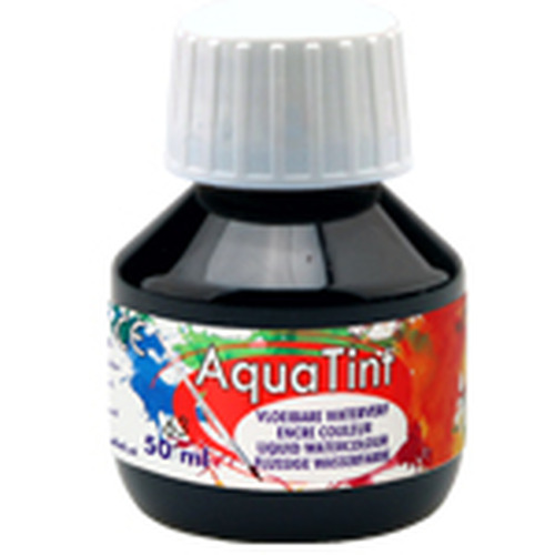 Collall AquaTint - vloeibare waterverf zwart 50ml COLAQ05063