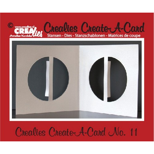 Crealies Create A Card no. 11 stans voor kaart CCAC11 / 13 cm x 26 cm