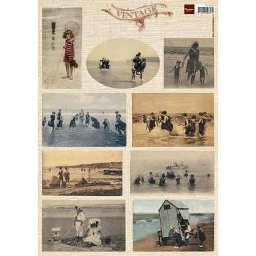 Marianne D 3D Knipvellen Vintage Beach Tiny 1  VK9542 (New 06-15)