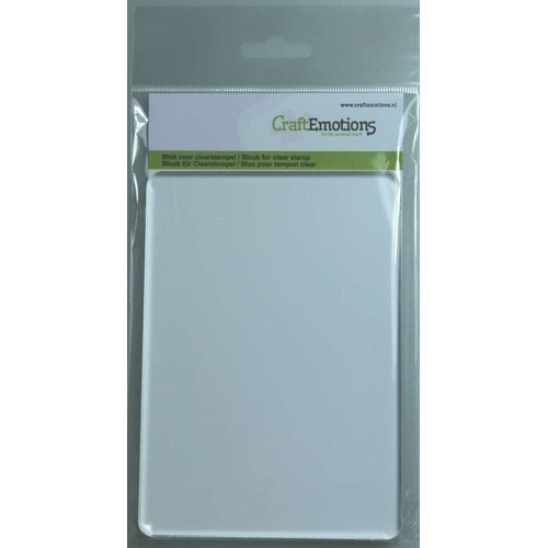 CraftEmotions blok voor clearstempel A6 10,5 x 14,8 cm  -  8mm