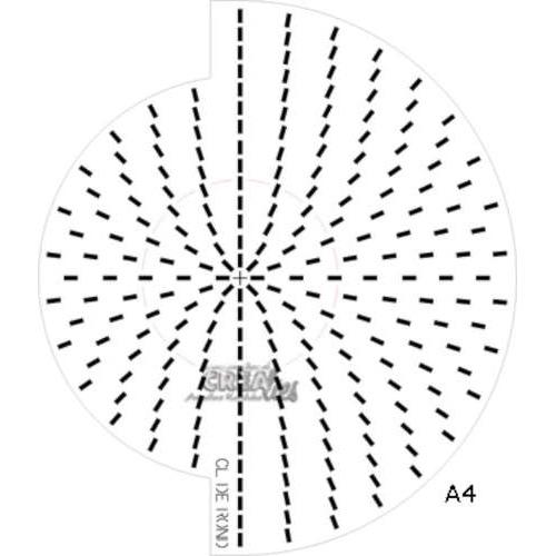 Crealies Doilymal cirkel patroonmal voor dies A4 CLDERO