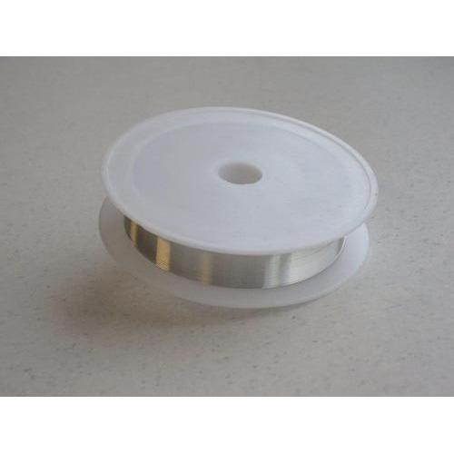 1 ST (1ST) Silver plated koperdraad 0,6 mm 6 MT