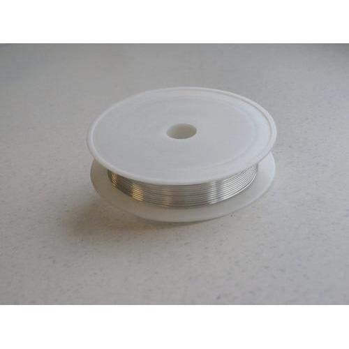 1 ST (1ST) Silver plated koperdraad 0,8 mm 3 MT