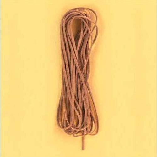 1 ST (1ST) Koord imitatieleer vierkant bruin 3 mm 5 MT