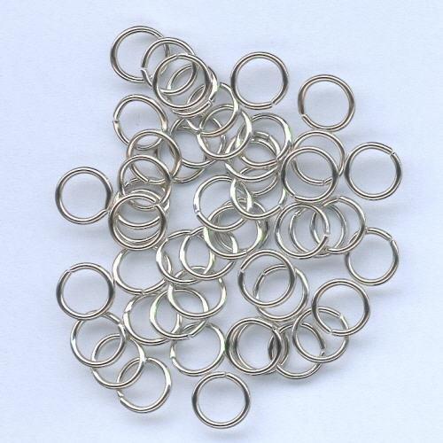 1 PK (1PK) Split ring gehard zilverkleur 8 mm 50 ST